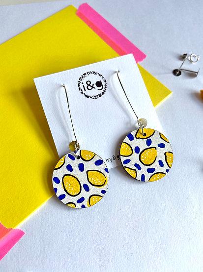 White Lemon Earrings