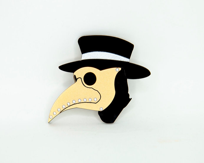 Plague Mask Brooch