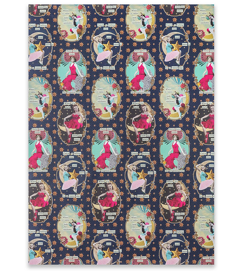 Superstar Divas Wrapping Paper