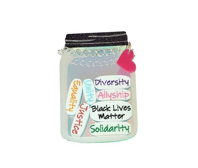 Black Lives Matter Jar Brooch
