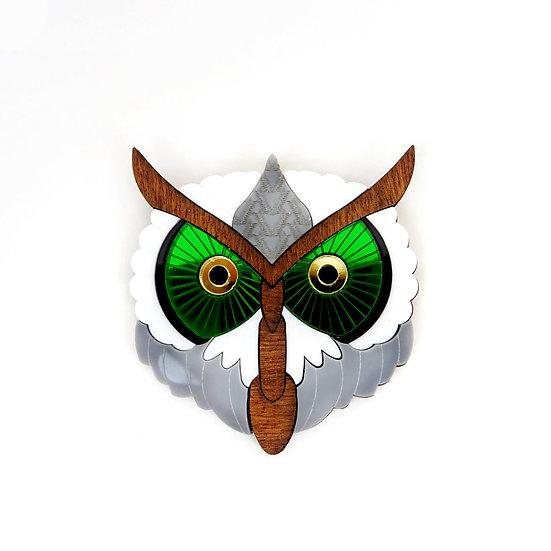 Barn Owl Brooch