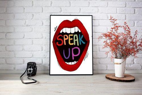 Speak Up wall art by Jessica Purchall