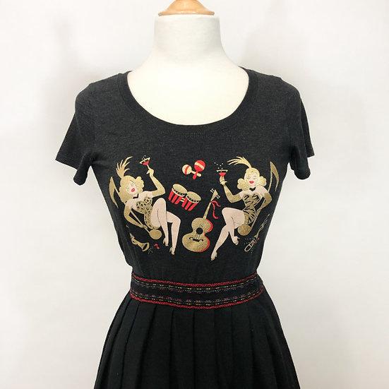 Mischief Made Showgirls Tee in Vintage Black