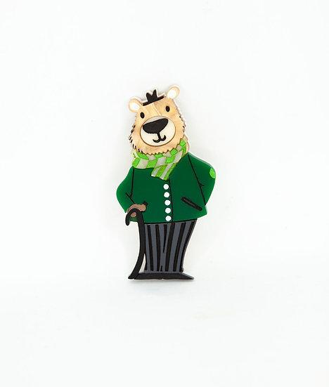 Dr Watson Bear Brooch