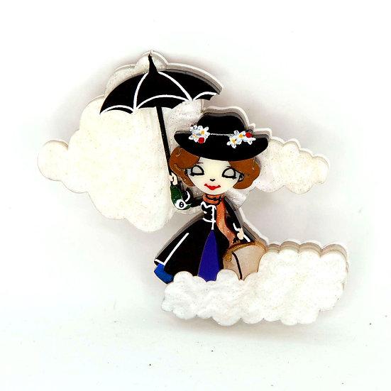 Mary Poppins Parody Brooch - Mary Poppins