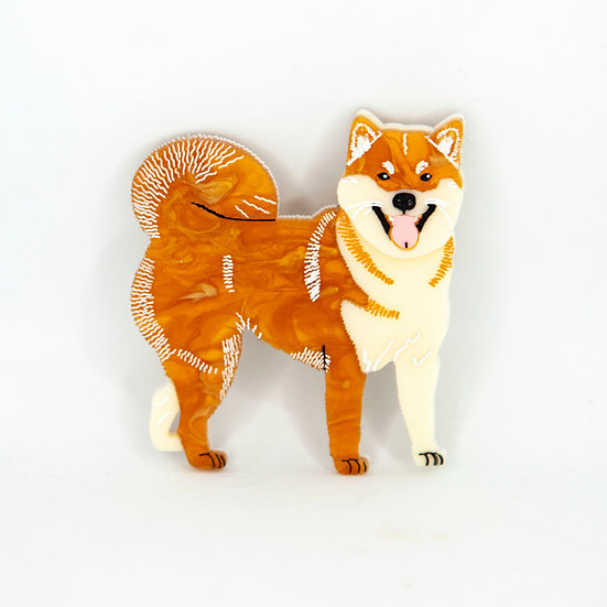 Sachi the Shiba Isu brooch