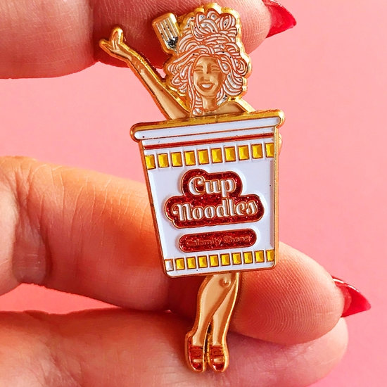 Burlesque sliding pin with glitter
