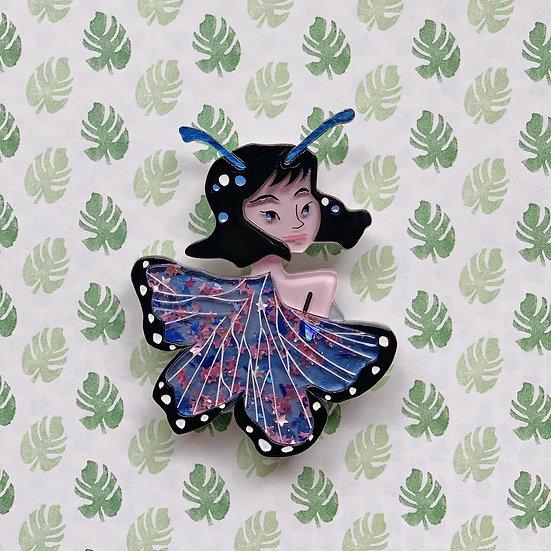 Starr the Butterfly Lady Brooch