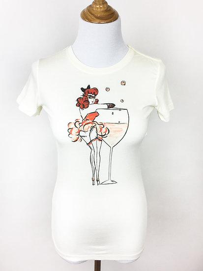Cheeky Martini Cream Tee
