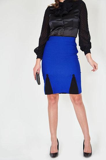 Blue & Black Wiggle Skirt