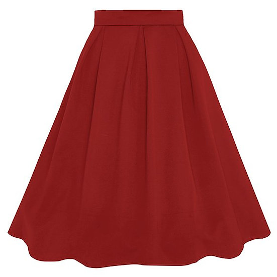 Carolyn Box Pleat Swing Skirt