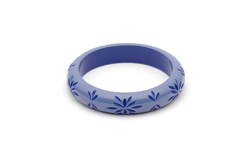 Forget Me Not Carved Midi Bangle