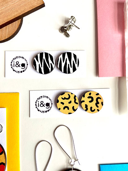 Zebra Cheetah Duo Earrings
