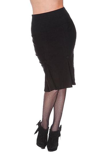 Black Wiggle Skirt