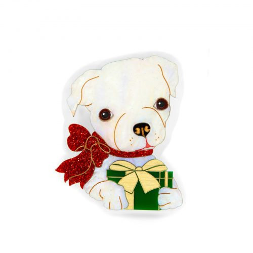 PRE-ORDER  Holly the Christmas Puppy brooch