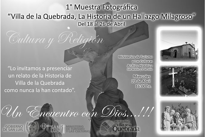 18 al 26 - MUESTRA FOTOGRÁFICA - VILLA DE LA QUEBRADA, LA HISTORIA...