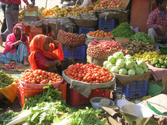 India, Selling at the Market