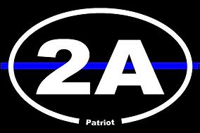 2A Patriot blue line sticker oval.png