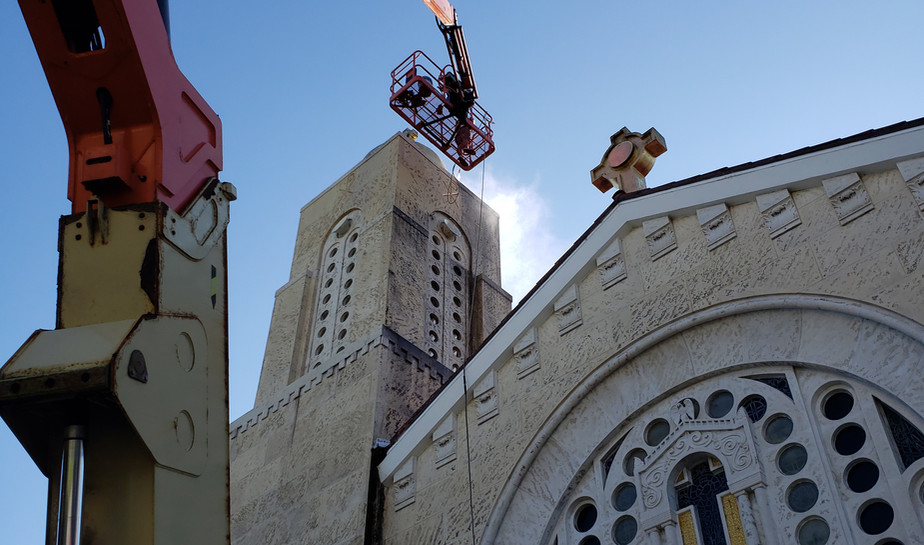 Cleaning and sealing the Cathedral