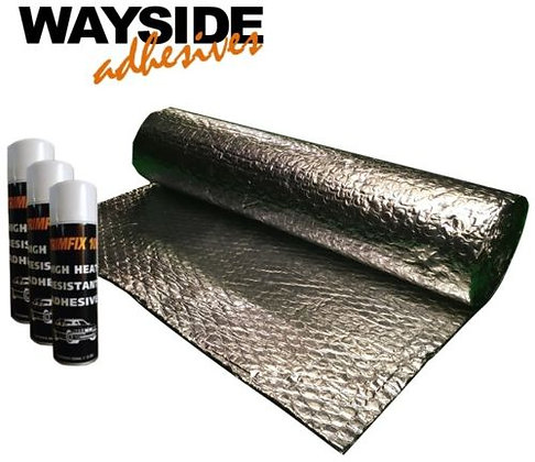 Van Double Foil Insulation (10m x 1.05m) with 3 x Trimfix Cans