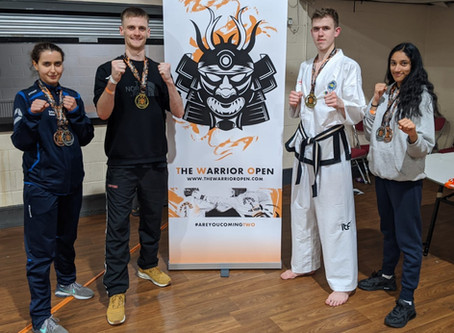 TKD Impact team win 5 Golds at The Warrior Open, 7/3/2020