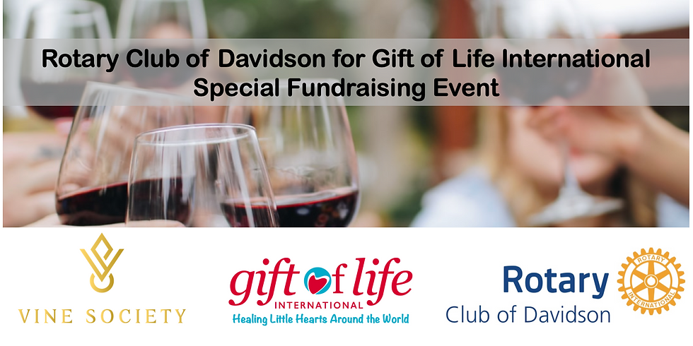 Wine Enjoyment Virtual Class & Tasting (Rotary Davidson for Gift of Life International Fundraiser)