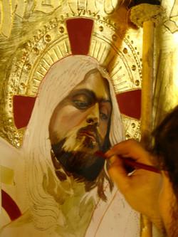 Christ figure in progress