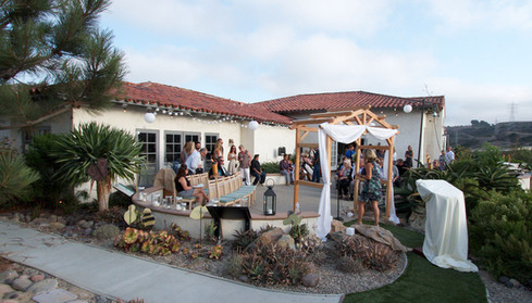 Wedding party Discovery Center patio