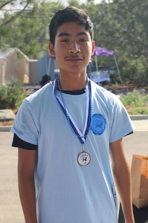 1st Place Male Kid Winner 5k