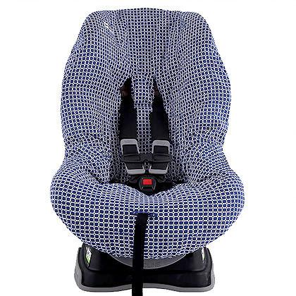 ריפוד עיגולים כחולים לכסא הבטיחות
