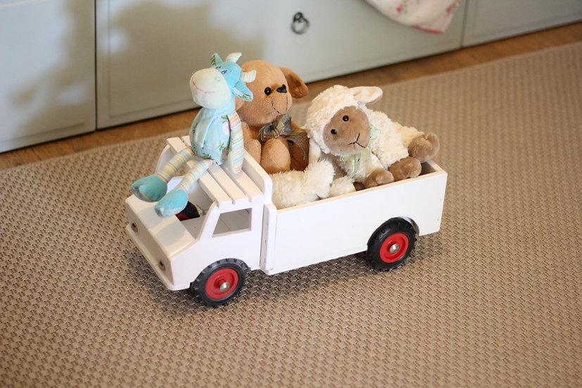 משאית עץ צבע לבן