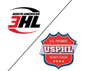 NA3HL Logo and USPHL Logo
