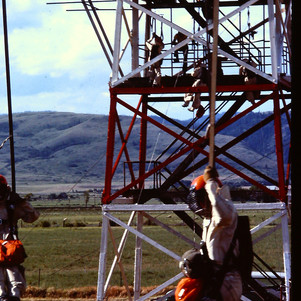Using the jump tower constructed at La Grande