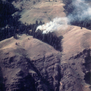 Steamboat Cr. fire in Hells Canyon