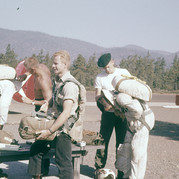 Chuck Sheley (holding reserve) Gary Welch (beret) Truman Sandelin (no shirt)