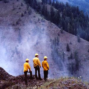 Fire overlook in NE Oregon