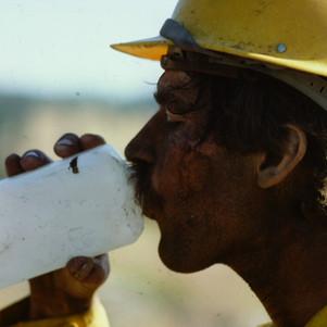 Bob Lightley takes a water break