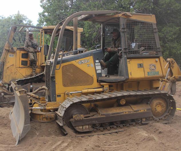 bulldozers on the fireline