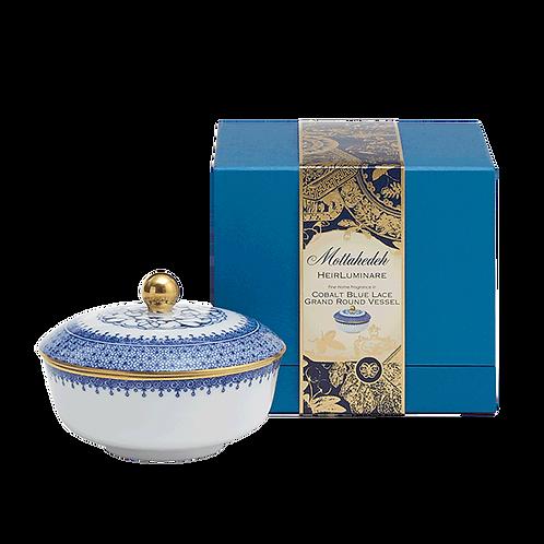 Cobalt Blue Lace Heirluminare Petite Round Box