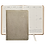 Thumbnail: 2019 Graphic Image Desk Diary White Gold Metallic-Leather