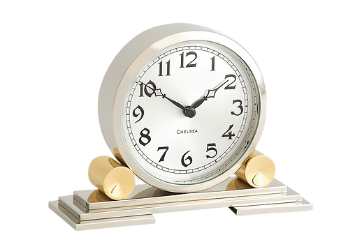 Mayfair Clock in Brass and Nickel
