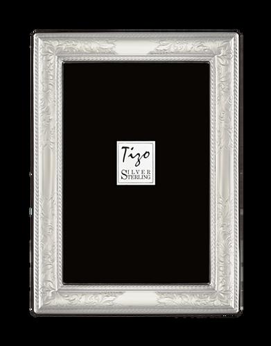 Tizo Sterling Silver Floral Engraved Frame
