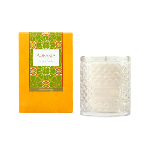 Agraria Crystal Candle 7oz. lime & Orange Blossom