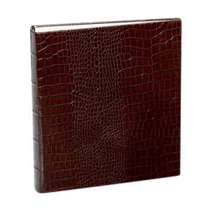 Medium Bound Album Brown Crocodile Embossed Leather