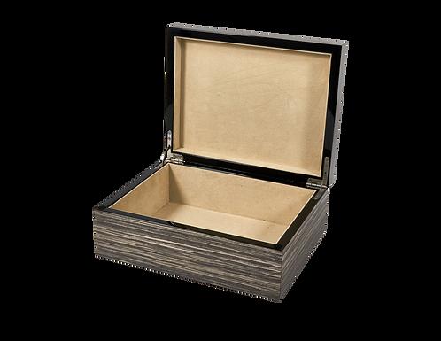 Tizo Grey & Black Polished Lacquered Box
