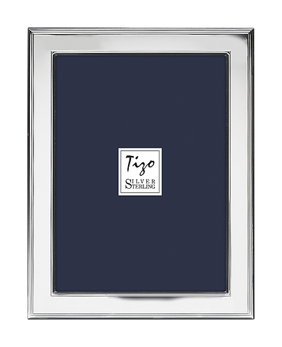 Tizo 925 Sterling Silver Frame Double Line