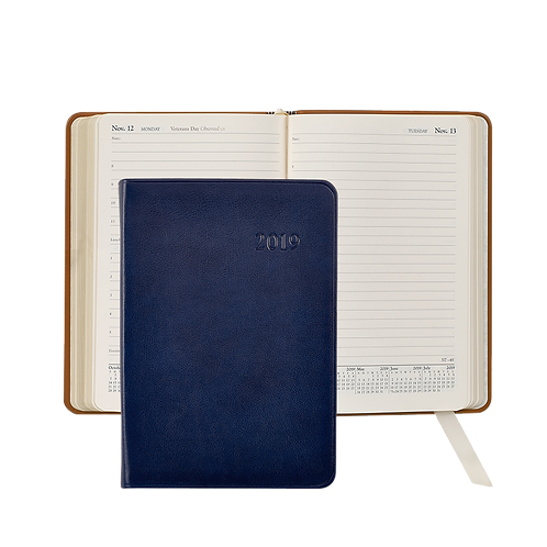 2019 Graphic Image Daily Journal Blue Traditional Leather