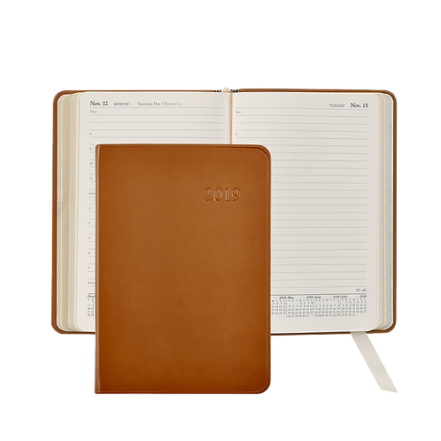 2019 Graphic Image Daily Journal British Tan Traditional Leather