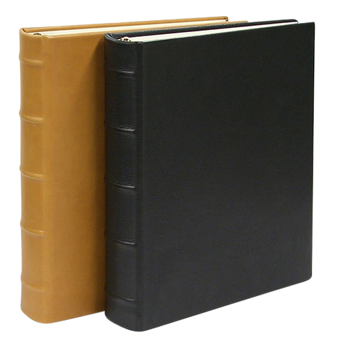 Large Clear Pocket 3 Ring Album Traditional Leather
