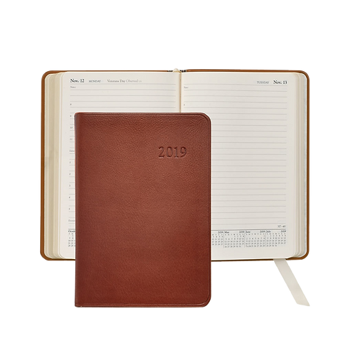 2019 Graphic Image Daily Journal Brown Traditional Leather